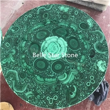 Malachite/Green Jade Precious Stone Round Tables