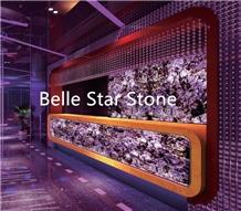 Purple Fluorite Semiprecious Stone Slabs & Tiles