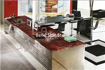 Ruby Semiprecious Luxury Stone Counter Tops