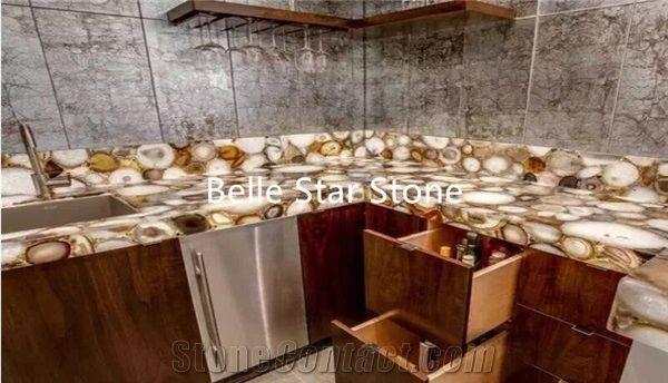 Sardonyx Agate Kitchen Countertops Backsplash From China Stonecontact Com