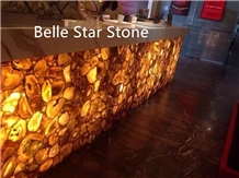 Yellow Agate Backlit Gemstone Bar/Club Counters
