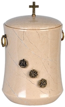 Classy Cremation Urn in Verona Beige Marble