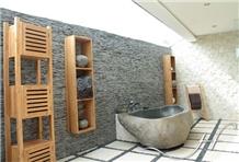 Bali Bathtub River Stone Basalt