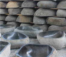 Bali Sink River Stone Basalt Indonesia Sink
