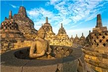 Java Buddha Sculpture Lava Stone Statue