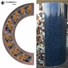 Semi-Transparent Laminated Glass Handicraft/Column