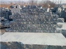 Blue Limestone Wall Cladding , Tumbled Tiles