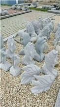 Carving Animals Fish in Garden for Decoration