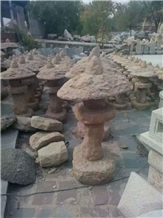 Granite Stone Lantern for Outdoor Garden Lighting