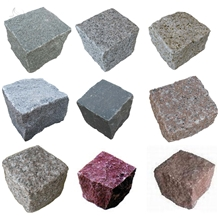 Natural Granite Cobble Stone Cube Stone Paving