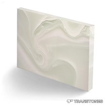 Translucent Stone Persian White Resin Panels