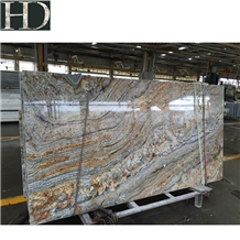 African Canyon Bordeaux Namibi Gold Granite Slab