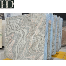 Chinese Grey Pink Cloud River Granite Slab Tile