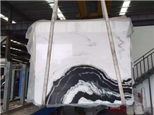 Chinese Panda White Marble Polished Slab & Tile