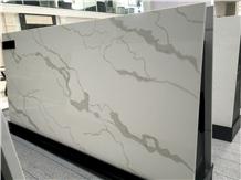 Popular Calacatta Quartz Big Slabs Tiles Polished