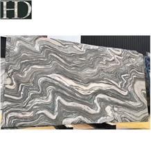 Silver Sand Wave Cloud Grey Granite Slabs &Tiles