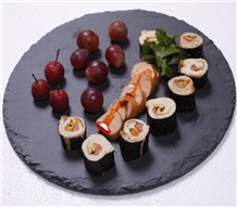 Black Slate Baking Cooking Stone Serving Plates