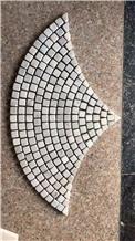 Carrara White Marble Fan Sharp Tumbled Mosaic Art