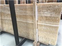 Polished China Honey Onyx Slabs Floor Wall Tiles