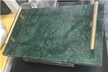 Verde Green Marble Trays Kitchen Serving Plates