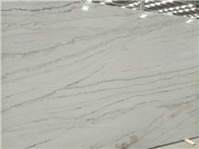 Fantasy Macaubas, Vien-Cut White Quartzite Slabs