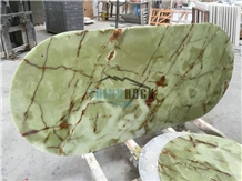 Lightweight Ancient Green Jade Honeycomb Tabletops