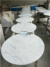 Lightweight Honeycomb Carrara Marble Round Tables