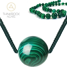 Semi-Precious Malachite Braceler, Malachite Challant Jewelry Necklace