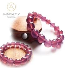 Semi Precious Stone, Pink Agate Bead Bracelet