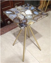 Semiprecious Stone, Agate Coffee Table Tops