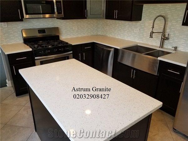 White Galaxy Quartz Kitchen Worktop In Uk From United