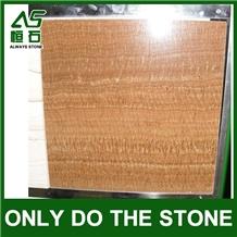 China Wood Grain Yellow Marble Tile/Slab