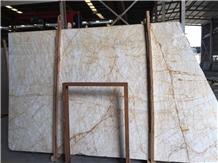 Greek Golden Spider Cream Marble Slabs Tiles