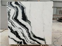 Panda White Ink Black Marble Slabs,Panda White Marble Slabs