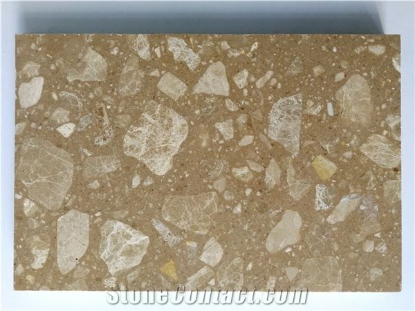 Dark Beige Artificial Marble From China
