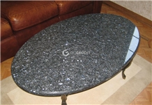 Blue Pearl Granite Oval Restaurant Table Top