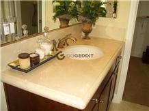 Crema Marfil Marble Bath Top