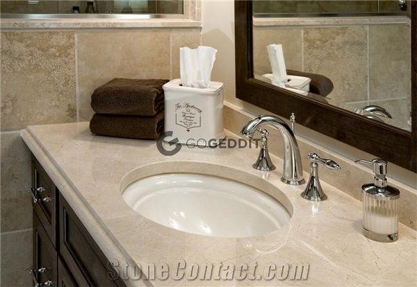 Crema Marfil Marble Bathroom Vanity Top From China 686064