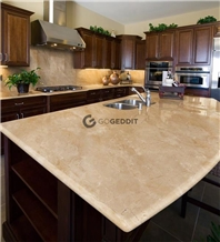 Crema Marfil Marble Kitchen Countertop