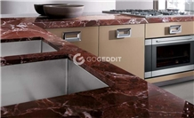 Rosso Levanto Marble Kitchen Countertop