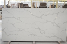 Artificial White Calacatta Quartz Bathroom Slabs