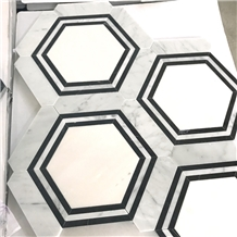 Bathroom Hexagon Marble Backsplash Mosaic Tiles