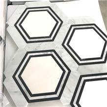 Bathroom Hexagon Marble Backsplash Mosaic Tiles