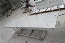 Bianco Carrara White Marble Restaurant Bar Top