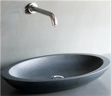 Black Color Oval Stone Wash Sink & Basins