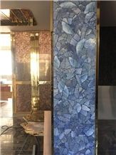 Blue Azul Macauba Jade Stone Walling Tiles