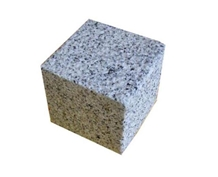 Bush-Hammed G439 White Granite Cube Stone Paver