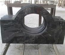China Nero Marquina Black Marble Countertop Vanity