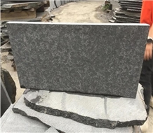 China New G684 Basalt Black Flamed Flooring Tiles