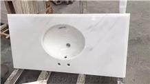 China Oriental White Marble Countertop Vanities